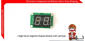 2 Digit Seven Segment Display Module with 74HC595