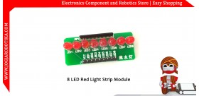 8 LED Red Light Strip Module