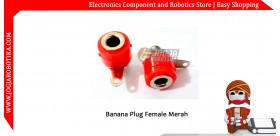 Banana Plug Female Merah
