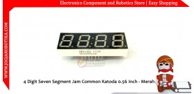 4 Digit Seven Segment Jam Common Katoda 0.56 Inch