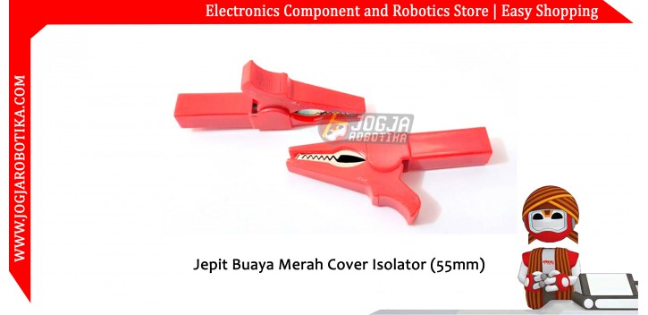 Jepit Buaya Merah Cover Isolator (55mm)