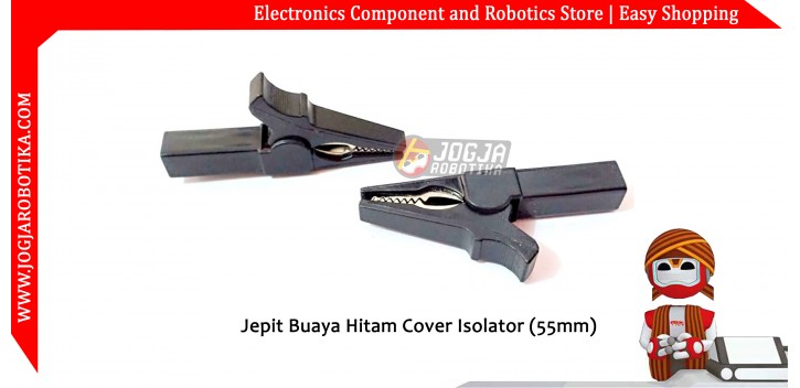 Jepit Buaya Hitam Cover Isolator (55mm)
