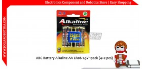 ABC Battery Alkaline AA LR06 1.5V 1pack (4+2 pcs)