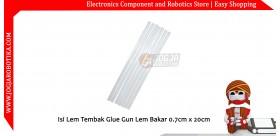 Isi Lem Tembak Glue Gun Lem Bakar 0.7cm x 20cm