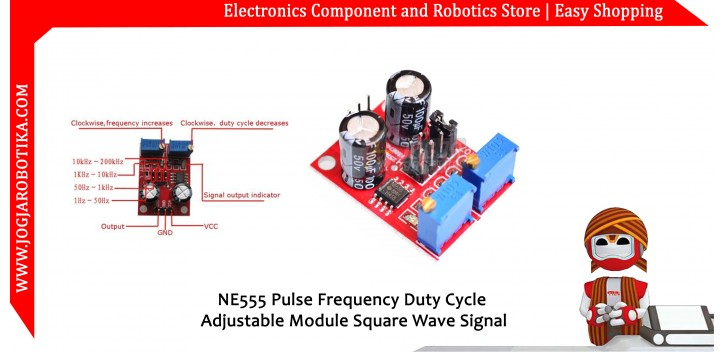 NE555 Pulse Frequency Duty Cycle Adjustable Module Square Wave Signal