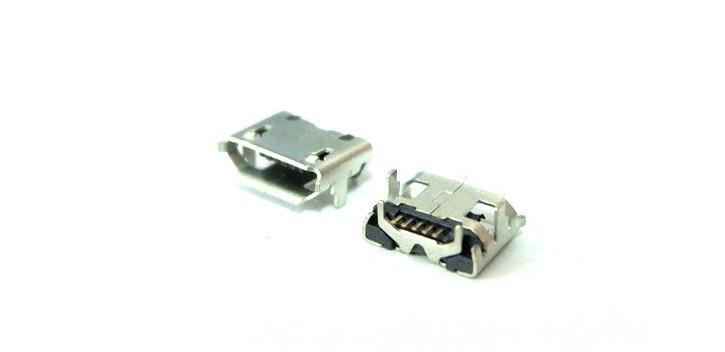 Konektor Micro USB Female 5p with Horn