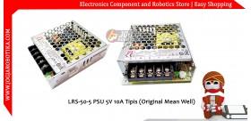 LRS-50-5 PSU 5V 10A Tipis (Original Mean Well)