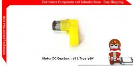 Motor DC Gearbox Bengkok 6V