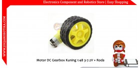 Motor DC Gearbox Gearbox 6V + Roda