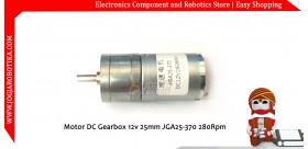 Motor DC Gearbox 12v 250 Rpm Torsi 1kg