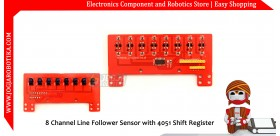 8 Channel Line Follower Sensor with 4051 Shift Register