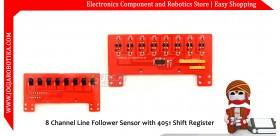 8 Channel Line Follower Sensor with 4051 Shift Register