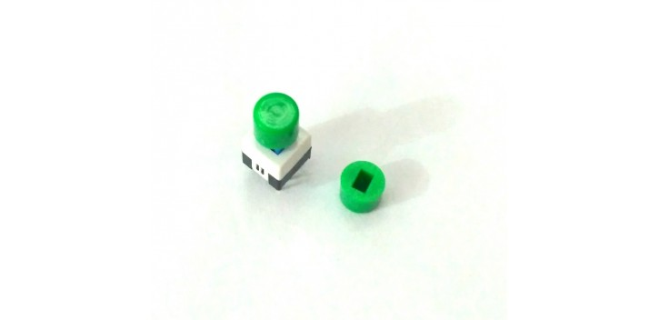 Cap Self-locking Square Push Button Switch-Hijau