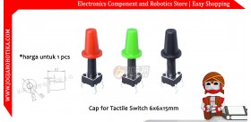 Cap for Tactile Switch 6x6x15mm - Hitam
