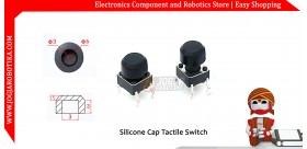 Silicone Cap Tactile Switch - Hitam