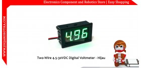 Two-Wire 4.5-30VDC Digital Voltmeter - Hijau