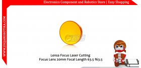 Lensa Focus Laser Cutting Focus Lens 20mm Focal Length 63.5 f63.5