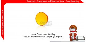 Lensa Focus Laser Cutting Focus Lens 18mm Focal Length 50.8 f50.8