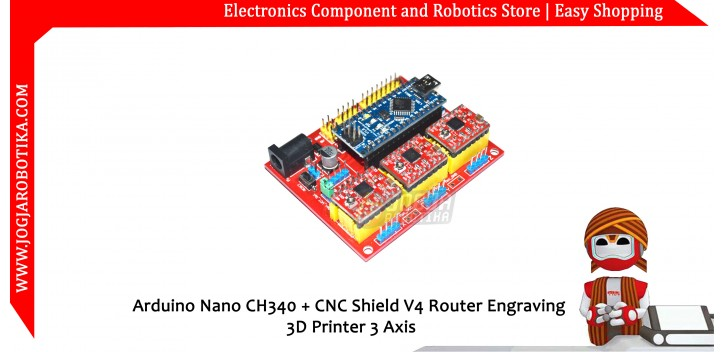 Arduino Nano CH340 + CNC Shield V4 Router Engraving 3D Printer 3 Axis