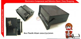 Box Plastik Hitam 200x175x70mm