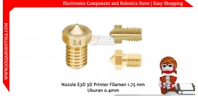 Nozzle E3D 3D Printer Filamen 1.75 mm