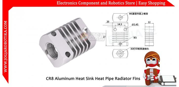 CR8 Aluminum Heat Sink Heat Pipe Radiator Fins