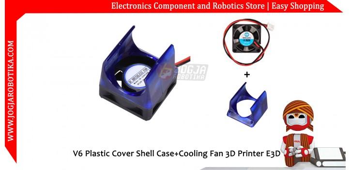 V6 Plastic Cover Shell Case+Cooling Fan 3D Printer E3D