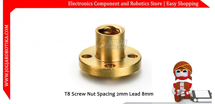 T8 Screw Nut Spacing 2mm Lead 8mm