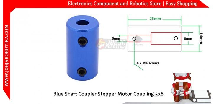 Blue Shaft Coupler Stepper Motor Coupling 5x8