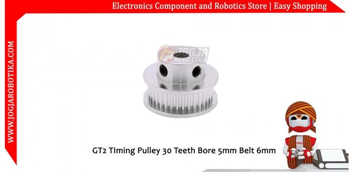 GT2 TIming Pulley 30 Teeth Bore 5mm Belt 6mm