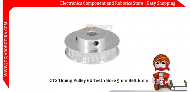 GT2 TIming Pulley 60 Teeth Bore 5mm Belt 6mm
