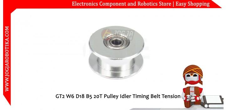 GT2 W6 D18 B5 20T Pulley Idler Timing Belt Tension