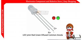 LED 5mm Red Green Difused Common Anoda