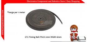 GT2 Timing Belt Pitch 2mm Width 6mm