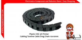 Plastic CNC 3D Printer Cabling Towline Cable Drag Chain 10x10mm