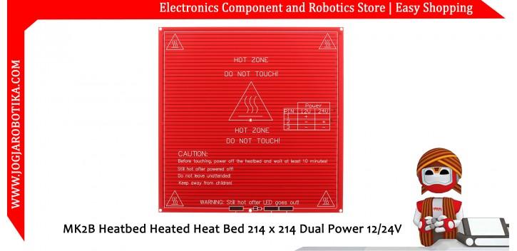 MK2B Heatbed Heated Heat Bed 214 x 214 Dual Power 12/24V