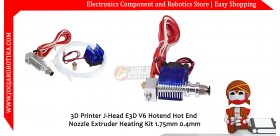 3D Printer J-Head E3D V6 Hotend Hot End Nozzle Extruder Heating Kit 1.75mm 0.4mm