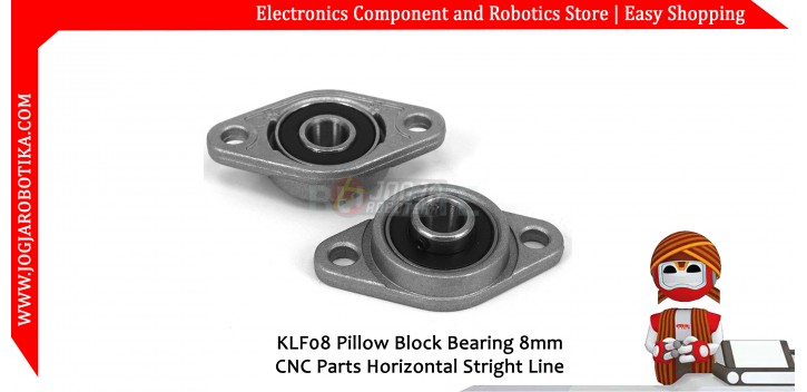 KLF08 Pillow Block Bearing 8mm CNC Parts Horizontal Stright Line
