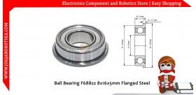 Ball Bearing F688zz 8x16x5mm Flanged Steel