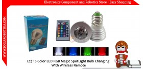 E27 16 Color LED RGB Magic SpotLight Bulb Changing With Wireless Remote