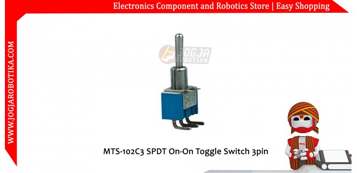 MTS-102C3 SPDT On-On Toggle Switch 3pin