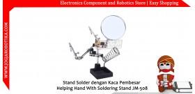 Stand Solder dengan Kaca Pembesar Helping Hand With Soldering Stand