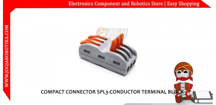 COMPACT CONNECTOR SPL3-CONDUCTOR TERMINAL BLOCK