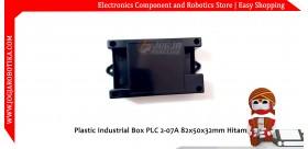 Plastic Industrial Box PLC 2-07A 82x50x32mm Hitam
