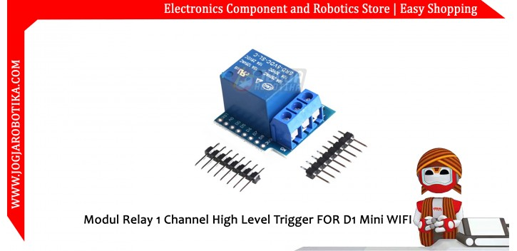Modul Relay 1 Channel High Level Trigger FOR D1 Mini WIFI