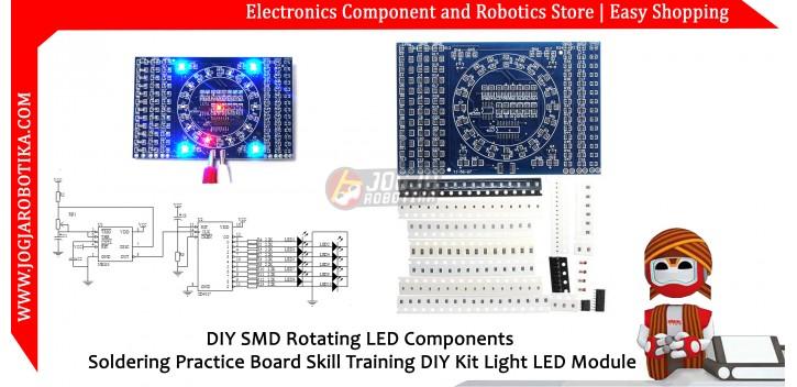DIY SMD Rotating LED Components Soldering Practice Board Skill Training DIY Kit Light LED Module