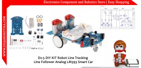 D2-5 DIY KIT Robot Line Tracking Line Follower Analog LM393 Smart Car