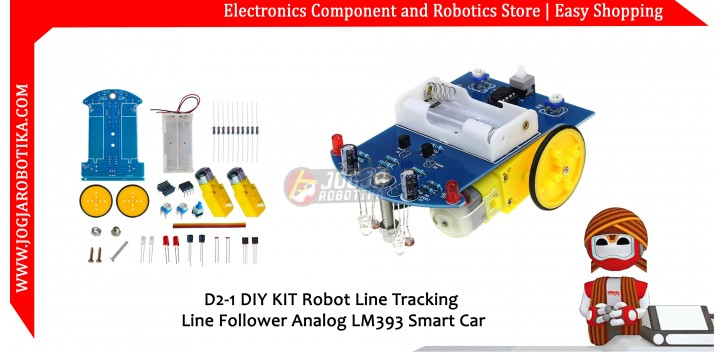D2-1 DIY KIT Robot Line Tracking Line Follower Analog LM393 Smart Car