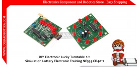 DIY Electronic Lucky Turntable Kit Simulation Lottery Electronic Training NE555 CD4017