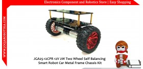 JGA25-26CPR 12V 1.25W Two Wheel Self Balancing Smart Robot Car Metal Frame Chassis Kit